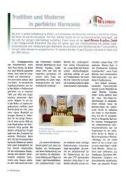 Wirtschaft heute - Orgelbau Weimbs