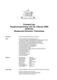 Protokoll der Hauptversammlung vom 29. Februar 2008 20.00 Uhr ...