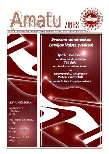 Amatu ziņas novembris 2009.pdf - Latvijas Amatniecības kamera