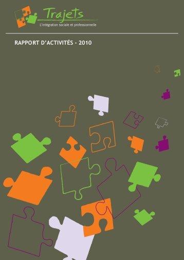 RAPPORT D'ACTIVITÉS - 2010