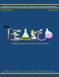 Bonding Students to Chemistry & Biochemistry - California State ...