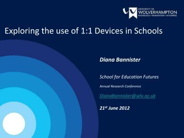 Exploring the use of 1:1 Devices in Schools - University of ...