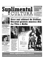 La Vita e Bella - Suplimentul de Cultura
