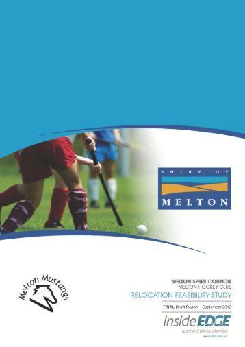 FINAL Draft Report September 2012 - Melton City Council