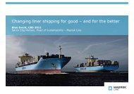 Changing liner shipping for good – and for the better
