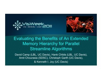 Evaluating the Benefits of An Extended Memory Hierarchy for Parallel