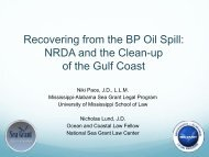 Recovering from the BP Oil Spill: NRDA and the Clean-up of the Gulf ...