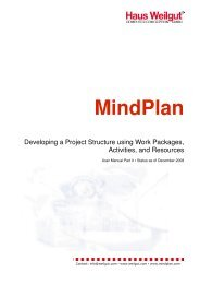 Developing a Project Structure using Work Packages ... -  MindPlan