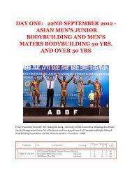 day one: 22nd september 2012 - asian men's junior ... - ABBF