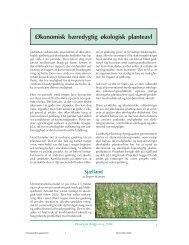 Økonomisk bæredygtig økologisk planteavl - Økologisk Rådgivning