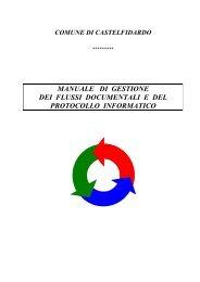 manuale di gestione dei flussi documentali e del protocollo informatico