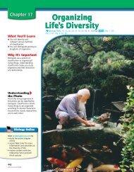 Chapter 17: Organizing Life's Diversity