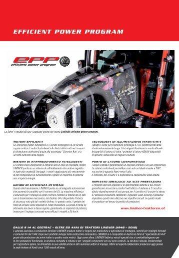 efficient power program - Lindner Traktoren