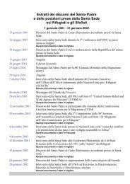 Estratti dei discorsi del Santo Padre e delle ... - La Santa Sede