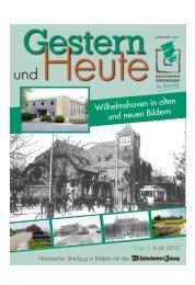 Wilhelmshaven in alten und neuen Bildern - Wilhelmshavener Zeitung