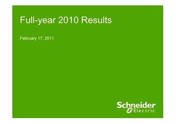 Presentation FY2010_EN - Schneider Electric