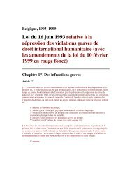 Belgian international human rights law - World Policy Institute