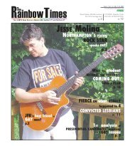 JULY 4, 2007 - The Rainbow Times