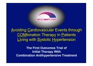 Avoiding Cardiovascular Events through COMbination Therapy in ...