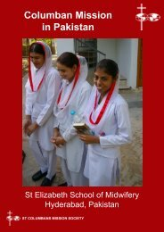 Columban Mission in Pakistan - St Columbans Mission Society