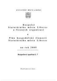 rozpocet 2009 - dokladova cast - Statutární město Liberec