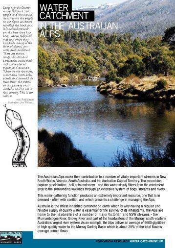 Water catchment - Australian Alps National Parks