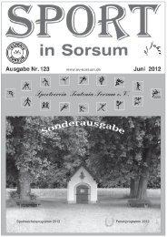 50 Jahre Ferienprogramm Sorsum - SV Teutonia Sorsum