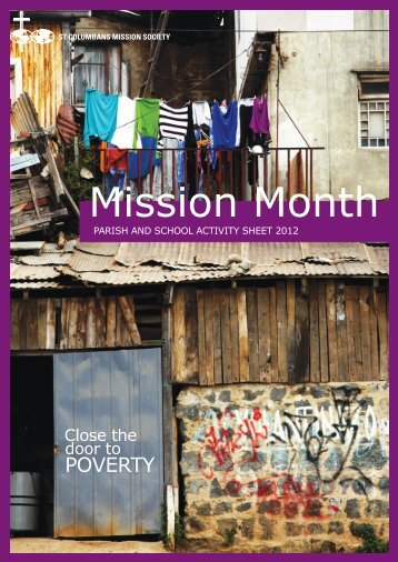 Making 'Mission Month' - St Columbans Mission Society