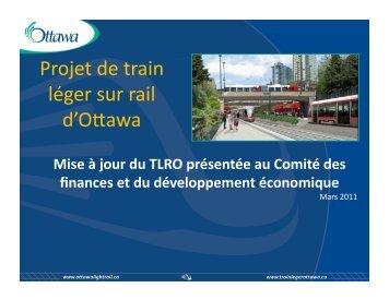 Voir la présentation - Ottawa Light Rail