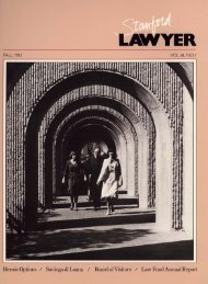 Fall 1983 – Issue 30 - Stanford Lawyer - Stanford University