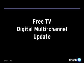 Multi-Channel Update -  Think TV