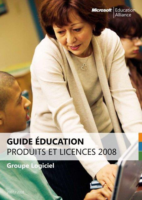 Guide Éducation produits et licences 2008 - Accueil