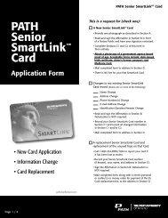 PATH Senior SmartLinksm Card Application Form - PATH SmartLink