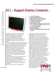 Download Datasheet: DC1 - Rugged Display Computer