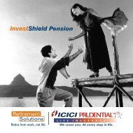 Investshield pension - ICICI Prudential Life Insurance