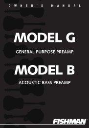 Model G & Model B User Guide - Fishman