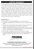 Model G & Model B User Guide - Fishman - Page 4
