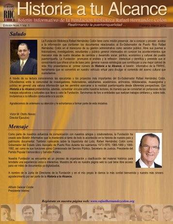 Boletín Informativo Vol. 1 - Febrero a Marzo 2012