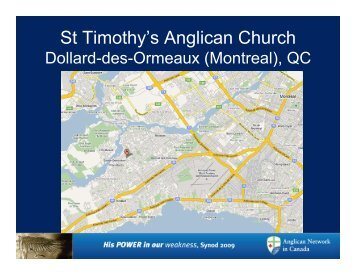 St Timothy's Anglican Church - Anglican Network in Canada