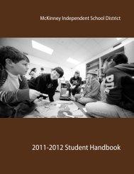2011-2012 Student Handbook - McKinney Independent School District