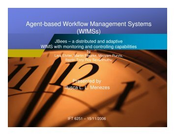 Agent-based Workflow Management Systems (WfMSs)
