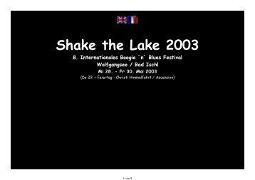 Shake the Lake 2003