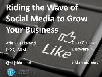Riding the Wave of Social Media to Grow Your Business - AIIM