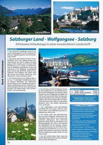 Salzburger Land - Wolfgangsee - Salzburg