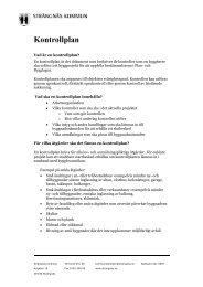 Kontrollplan - Strängnäs kommun