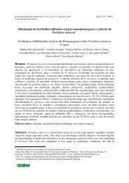 Otimização de herbicidas utilizados em pré-emergência para o ...
