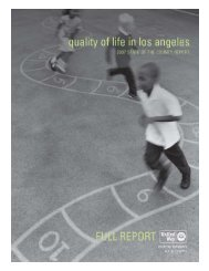 Quality of Life in Los Angeles – State of the County Report