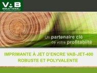 l'imprimante et ses caractéristiques - VAB Solutions