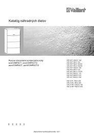 Katalóg náhradných dielov - Vaillant