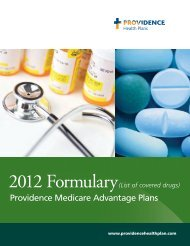 2012 Formulary List of covered drugs - Providence Health Plan ...